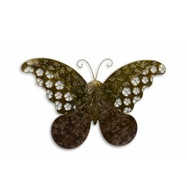 Vlinder voor tegen een muur groot