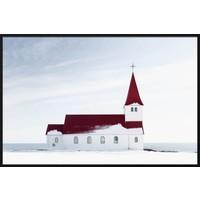 Malerei Forex Kirche 148x98cm