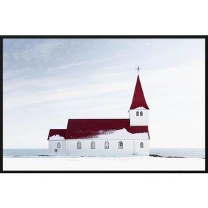 Wandkraft Gemälde Forex Kirche 148x98cm