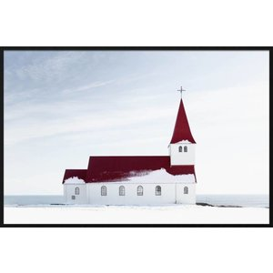 Wandkraft Malerei Forex Kirche 148x98cm