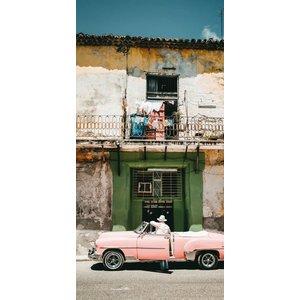 Wandkraft Gemälde Dibond Pink 98x48cm