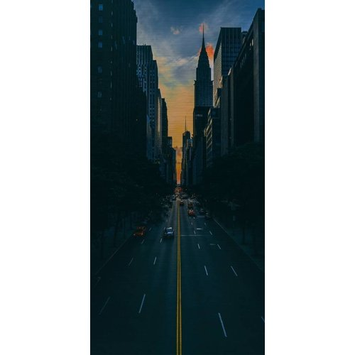 Wandkraft Malerei Dibond Edelstahl City 98x48cm