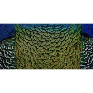 Wandkraft Gemälde Dibond Edelstahl Elegant 98x48cm
