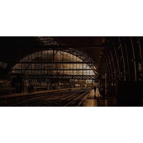 Wandkraft Lackierung Dibond Edelstahl Station 98x48cm