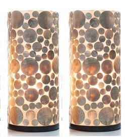 Tafellamp set 40cm Coin Gold
