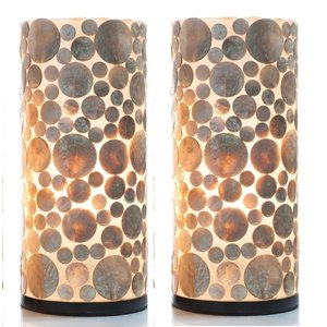 Table lamp set 40cm Coin Gold