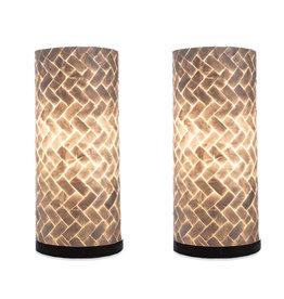 Taffellamp set 40cm Zigzag