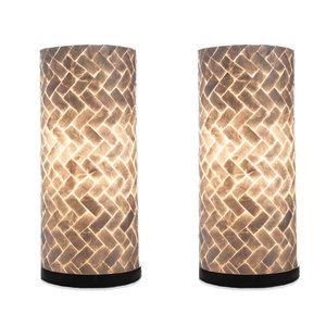 Table lamp set 40cm Zigzag