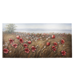 3D metalen schilderij 60x120cm Bloemen