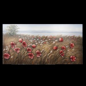 3D metal painting 60x120cm Flowers
