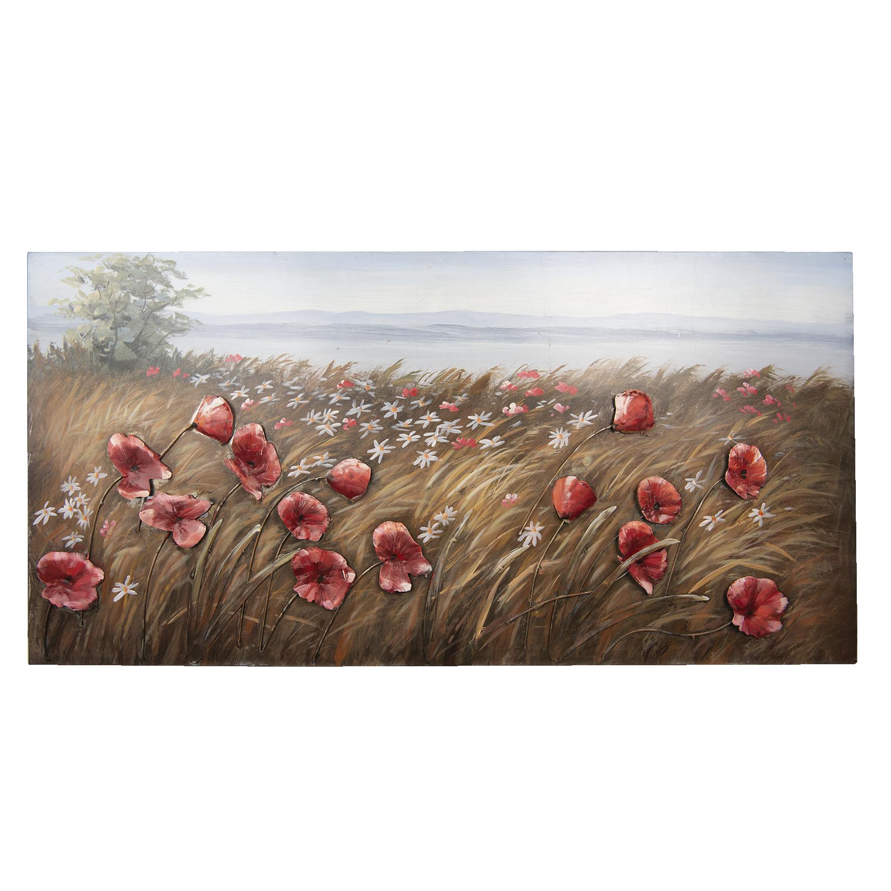 3D Metallmalerei 60x120cm Blumen