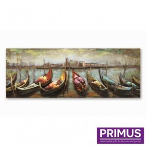 Primus metal 3d painting 60x160cm row of boats