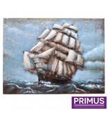 Primus 3D Metallmalerei 60x80cm Segelboot