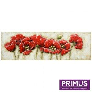 Primus Metall 3d Malerei 55x180cm Blumen