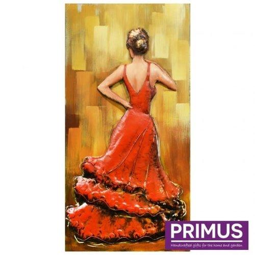 Primus Metall 3d Malerei 70x140cm Flamingo Tänzer