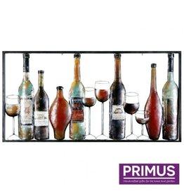Primus Wanddecoratie 60x120cm drankflessen