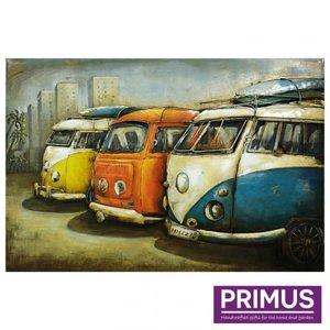 Primus Metal painting 3d 80x120cm 60's buses