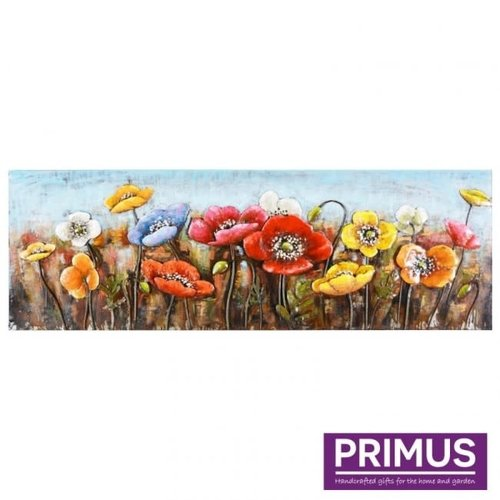 Primus Metal painting 3D 60x180cm poppies