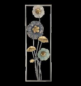 Muurdecoratie 30x90cm Bloemen