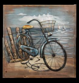 Painting metal 3D 60x60cm Bicycle