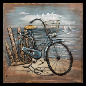 Malerei Metall 3D 60x60cm Fahrrad