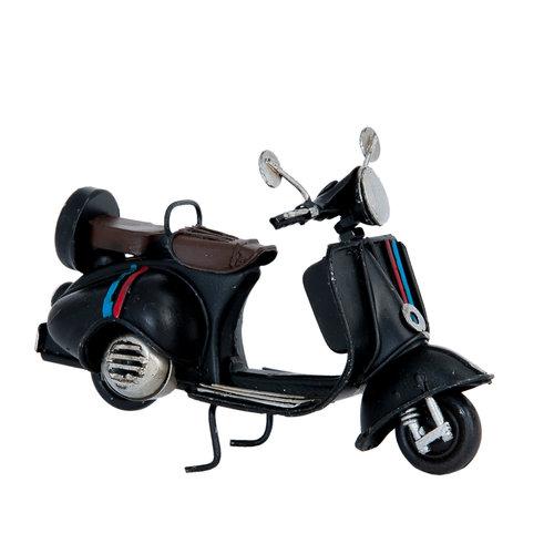 Miniatuur metaal scooter zwart