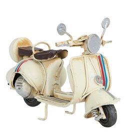 Miniatuur metaal scooter wit