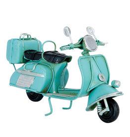 Metaal minutuur scooter blauw