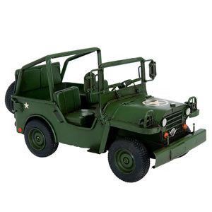 Metalen miniatuur leger jeep