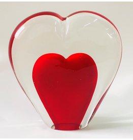Glasfigur Herz 5