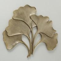 Wanddekoration 74cm Ginkgo Gold