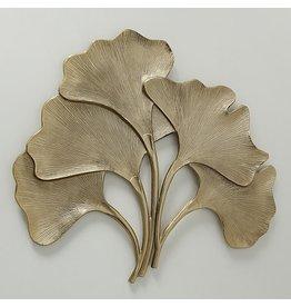 Wanddecoratie 104cm Ginkgo goud