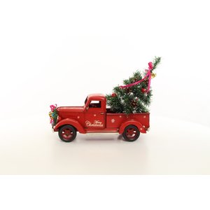 Miniatuur blik pick-up kerst