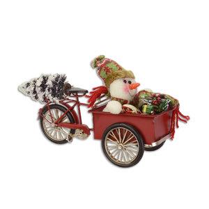 Miniatuur blik bakfiets kerst