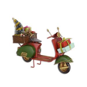 Miniatuur blik scooter kerst