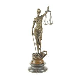 Bronzeskulptur Lady Justice Klassiker