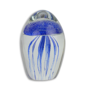 Glass statue murano style jellyfish