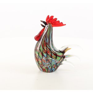 Glass statue murano style rooster
