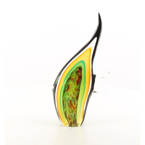 Murano style glass statue of angelfish