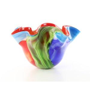 Vase glass of murano style flower