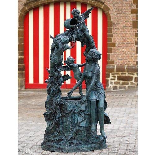 Eliassen Fountain bronze with 3 cherubs