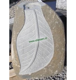 Eliassen Waterornament Leaf Basaltsteen