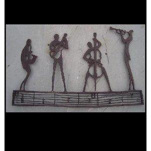 Eliassen Muurdecoratie brons orkest