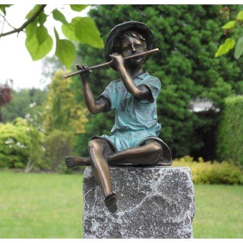 Eliassen Beeld brons jongetje met fluit