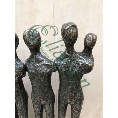 Eliassen Beeld brons 5 mensen met kind