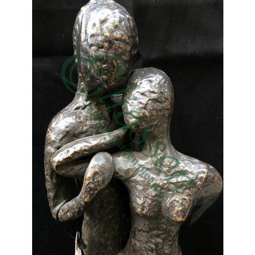 Eliassen Beeld brons modern liefdespaar