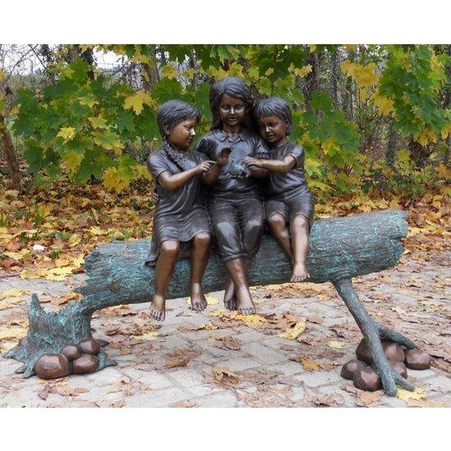 Eliassen Beeld brons 3 meisjes op stam