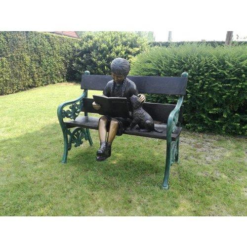 Eliassen Beeld brons meisje op bank