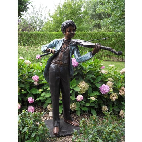 Eliassen Beeld brons violist