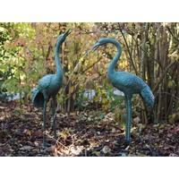 Beelden brons paar kraanvogels